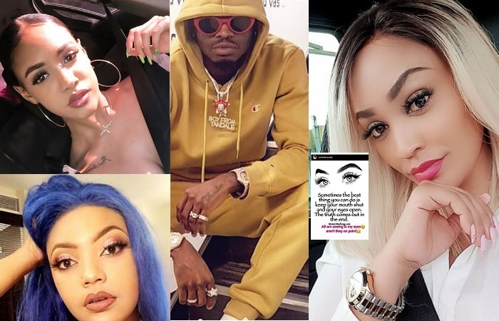 Diamond Platnumz and some of his three women