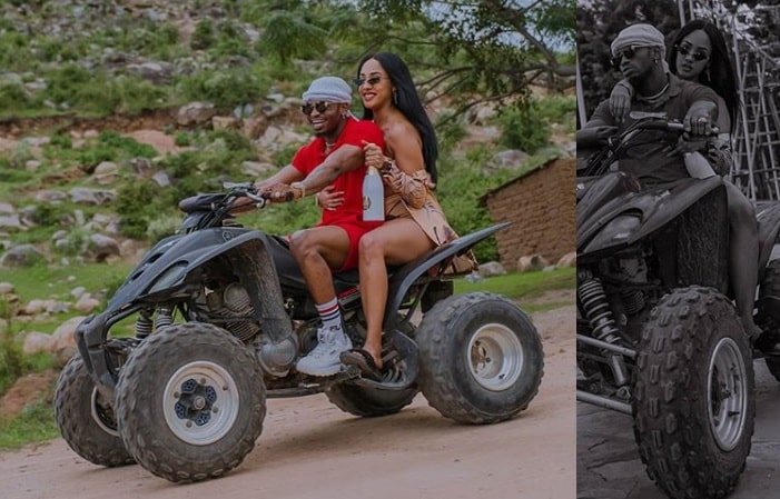 Diamond Platnumz tries out a Quad Bike for the very first time, Tanasha loved it