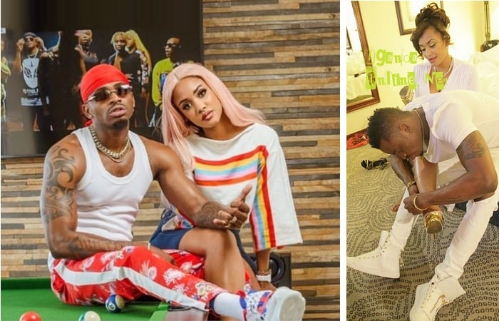 Diamond Platnumz with Tanasha Donna and Zari