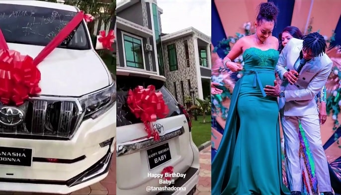 The big car that Diamond Platnumz gifted Tanasha on her birthday