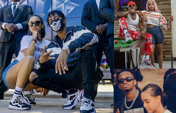 Tanasha Donna and her lover Diamond Platnumz, she is failing to stand the heat...