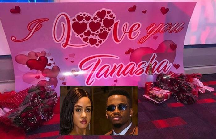 Tanasha Donna displaying her Valentine's Day presents