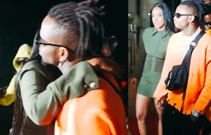 Tanasha Donna receiving Diamond Platnumz in Nairobi