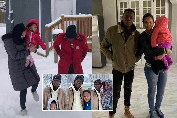 Chameleone with his family in the USA, Atlanta