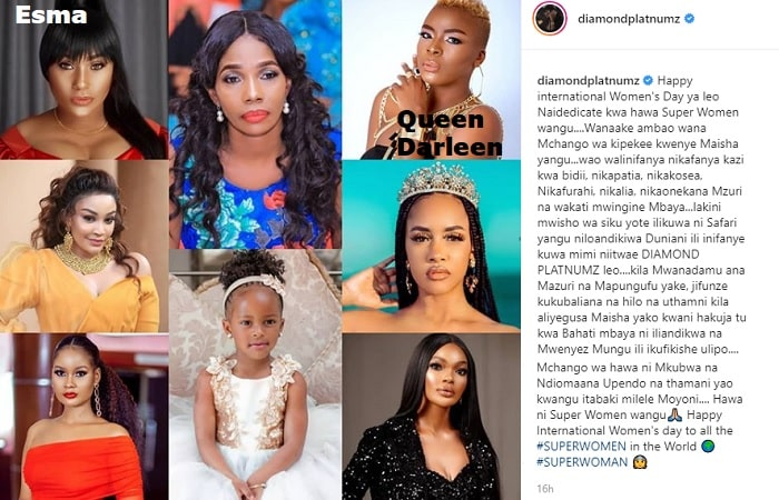 Diamond Platnumz and the 8 women in his life