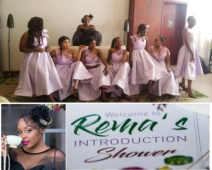 Rema and her maids during the introduction shower