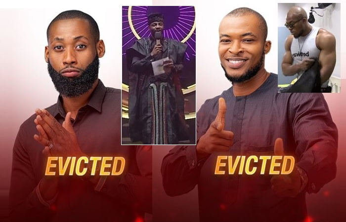 Eric and Tochi out of the Big Brother Naija house