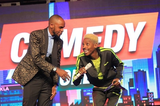 Comedians Alex Muhangi and Kenya's Eric Omondi