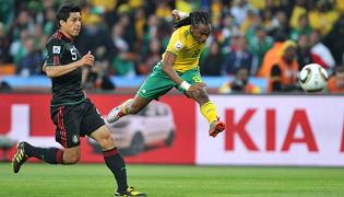 Tshabalala scoring his first goal