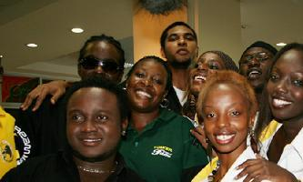 Tusker Project Fame on their recent trip to Kampala, Uganda