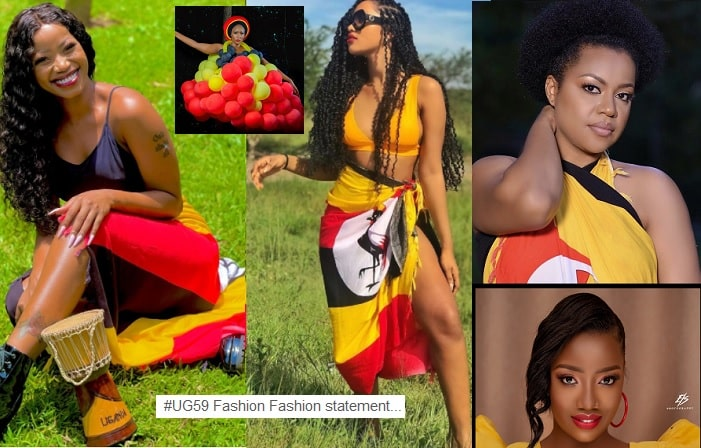 Our female stars in the Uganda flag colors