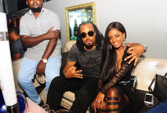 Navio and Vanessa Mdee at Club Play