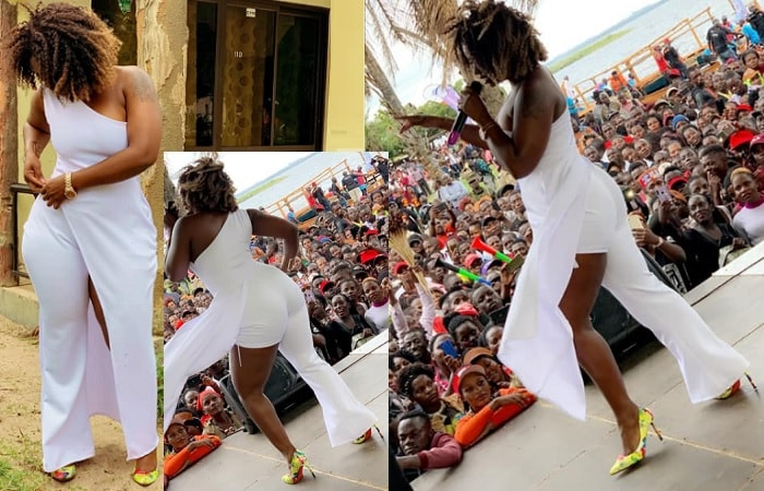 Winnie Nwagi performing at Nabugabo Sand Beach
