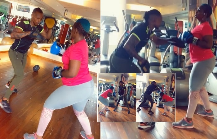 Winnie Nwagi takes up boxing lessons