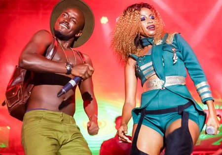 Ykee Benda and Sheebah at Hotel Africana
