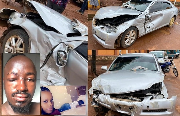Ykee and family survive nasty accident