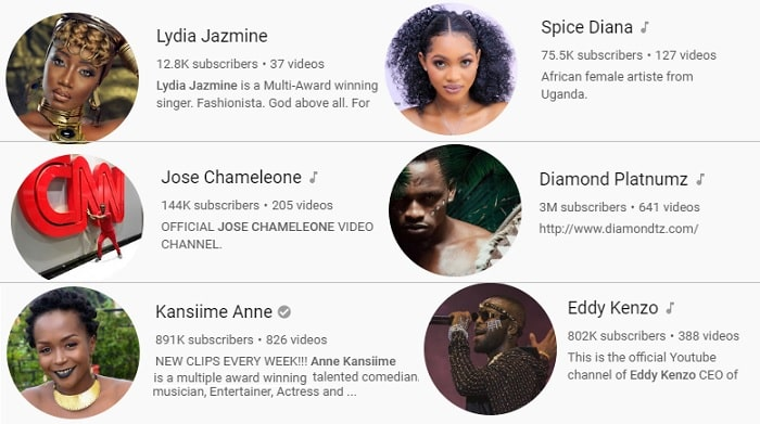 A glance at some of the YouTube accounts for our local stars