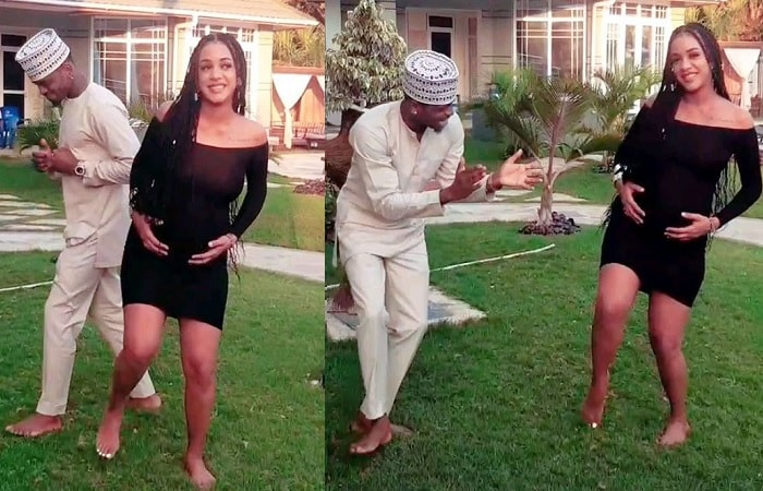 Tanasha Donna and Diamon d Platnumz pullimg off their serious dance strokes