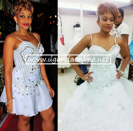 Zari put on her 'wedding' gown during the white party