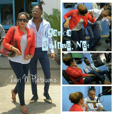 Zari and Platnumz as the went for a radio interview at Clouds FM in TZ
