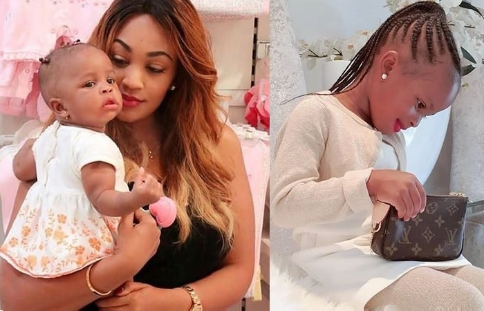 Zari and hr only daughter, Tiffah Dangote