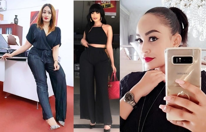 ari and Hamisa Mobetto were both clad in black outfits
