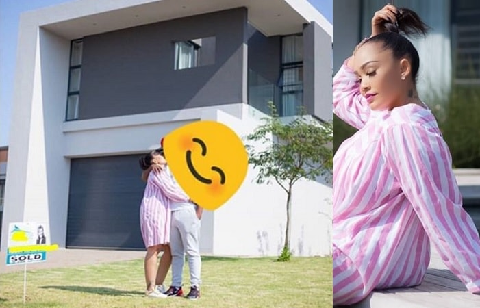 Zari and King Bae outside their new crib