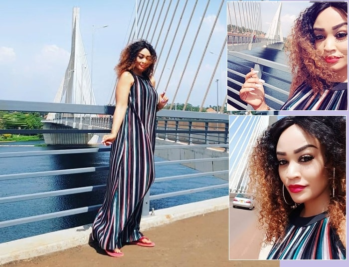 Zari at the new Source of the Nile Jinja Bridge
