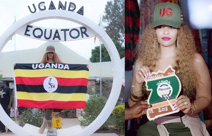 Zari at the Uganda Equator