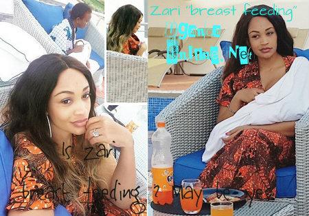 First pic of Zari breastfeeding baby Latiffah