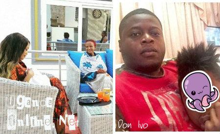 Inset is Zari's ex hubby, Ivan Semwanga and their last born