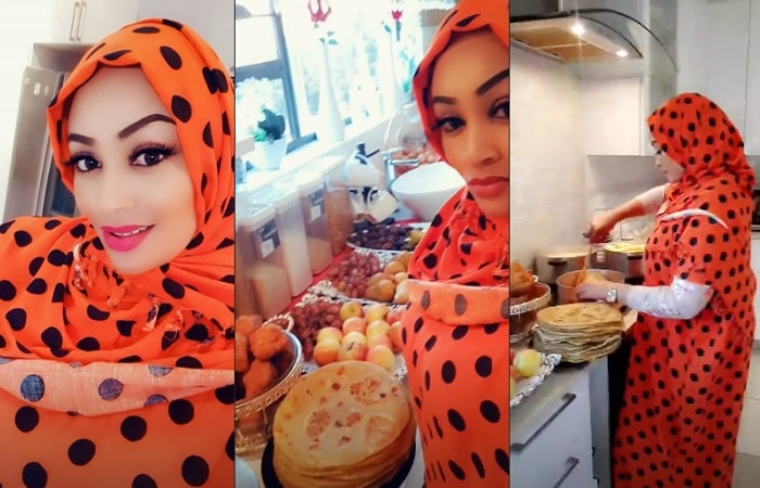 Zari preparing a Ramadan meal