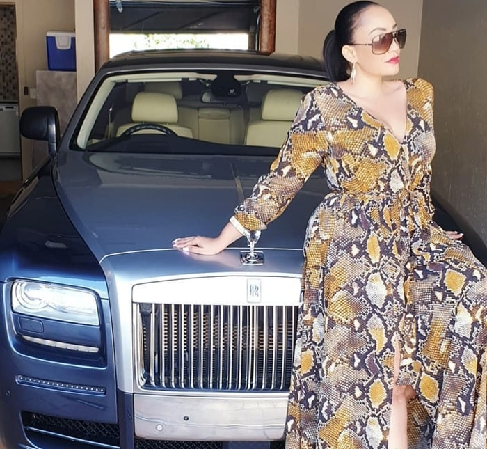 The Rolls Royce is another of King Bae's toys