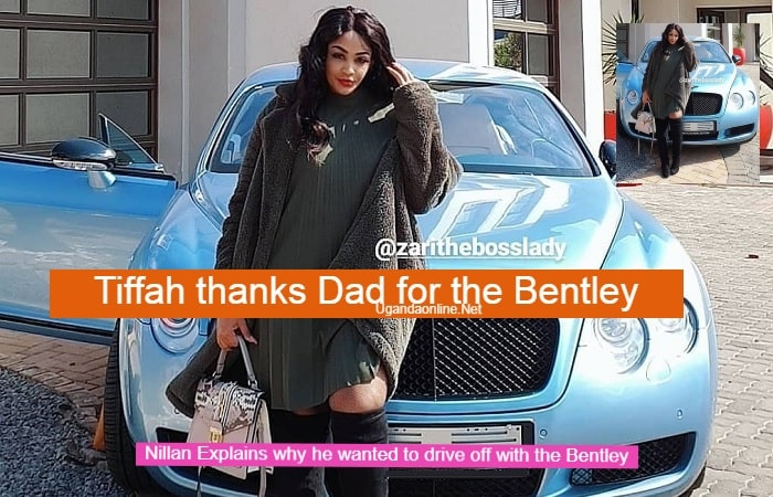 Tiffah thanks her dad Diamond Platnumz for buying the mom the Bentley