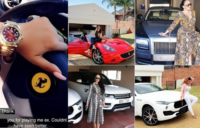 Zari's compound is littered with super luxury cars