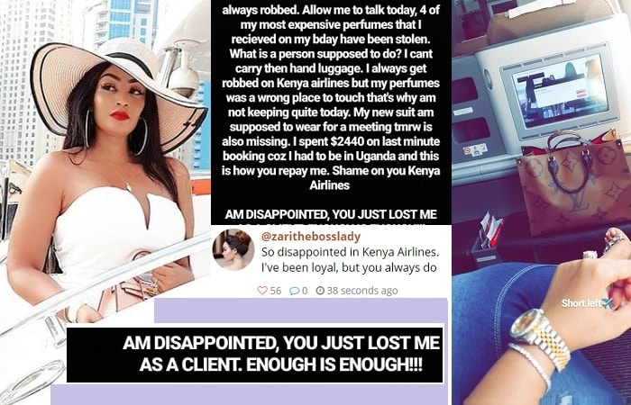 Zari falls out with Kenya Airways