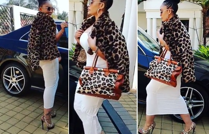 Zari rocks the animal print fashion all the way