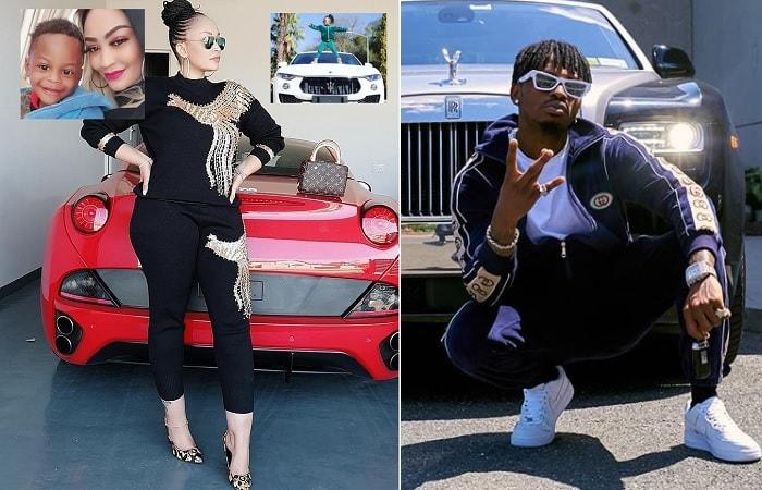 Zari right by her Ferrari as Diamond Platnumz strikes a pose by his dream car, a Rolls Royce