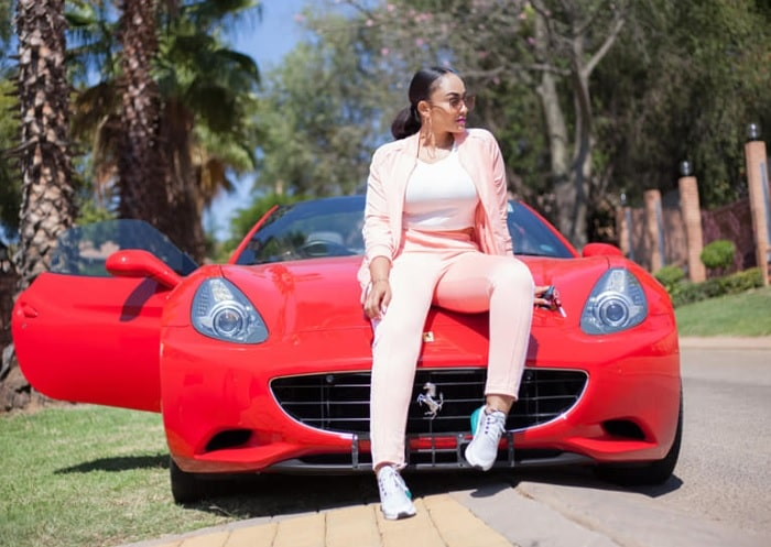 Zari on her red beast