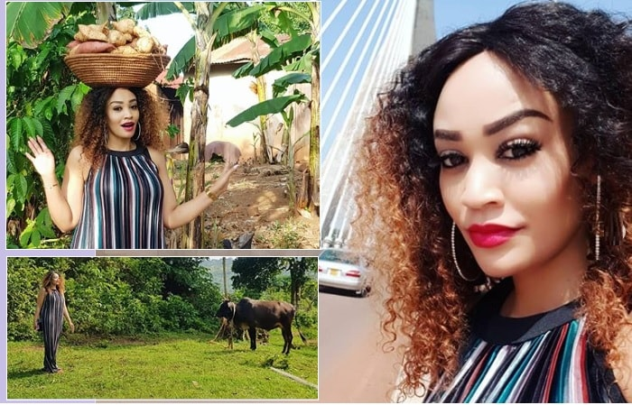 Zari slaying from her dad's farm