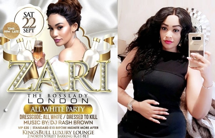 Zari is all set for her birthday and white party in London