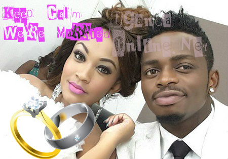 Zari and Diamond after exchanging the vows