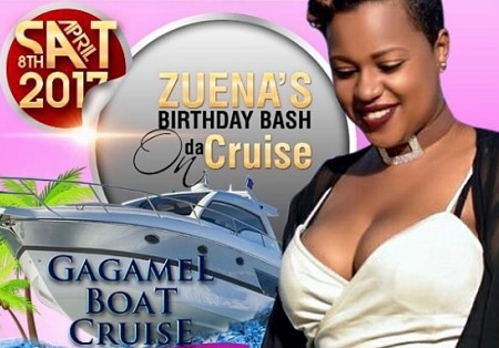 Zuena's birthday bash on da cruise