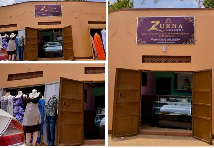 Zuena cake shop and the neighborhood