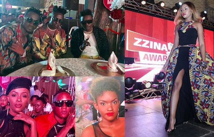 B2C, Nina Roz, Beenie Gunter, Fille and Sheila Gashumba showing off her long slit on African print