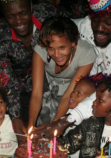 Abba Cuts the Birthday Cake