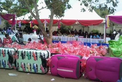 Some of the presents Abdu Mulasi took to Fatuma's parents.