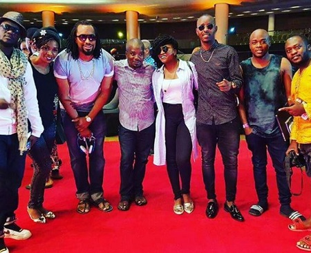 Cindy, Navio, Irene Ntale and Kenzo in a group photo