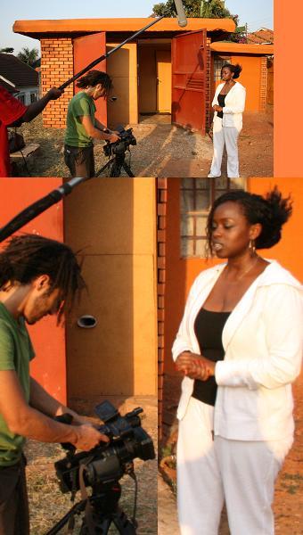 Aljazeera Crew Filming Angela Katatumba