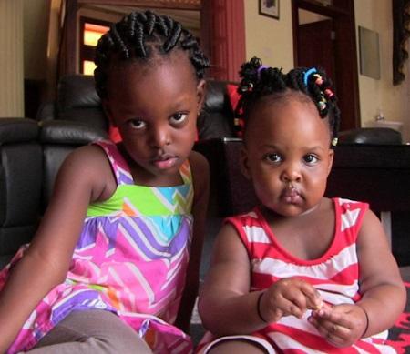 Cute girls Mya and Aamaal